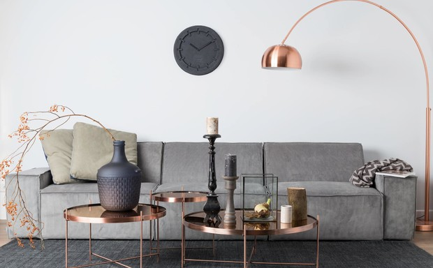 miedziane lampy podłogowe