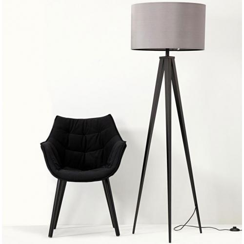 Szaro-czarna lampa podłogowa TRIPOD marki ZUIVER