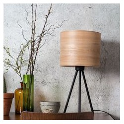 Lampa drewniany abażur