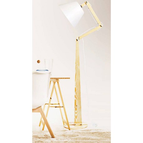 Funkcjonalna lampa podłogowa - biała lub czarna