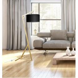 Oryginalna lampa drewniana z abażurem - białym lub czarnym
