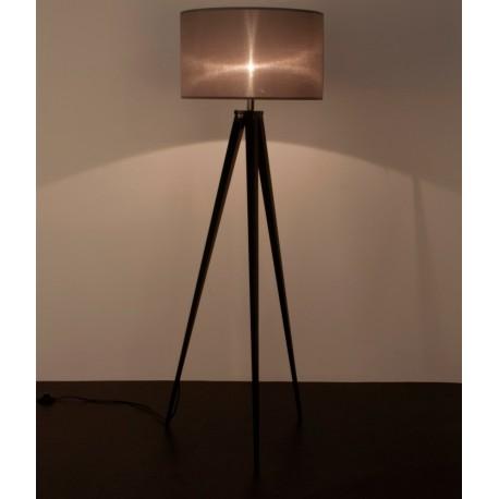 Szaro-czarna lampa na trzech nogach TRIPOD ZUIVER