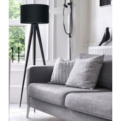 Trójnożna lampa podłogowa TRIPOD BLACK