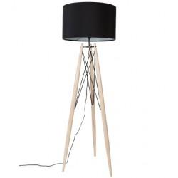Czarna lampa podłogowa Eifflel