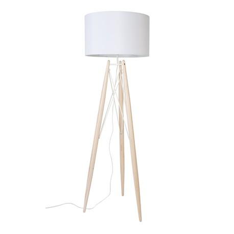 Biała lampa podłogowa Eifflel