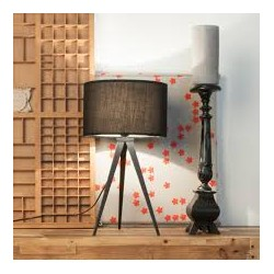 Czarna lampa stołowa TRIPOD BLACK