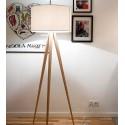 Lampa podłogowa tripod wood white zuiver