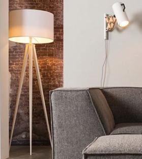 Lampy podłogowe z białym abażurem